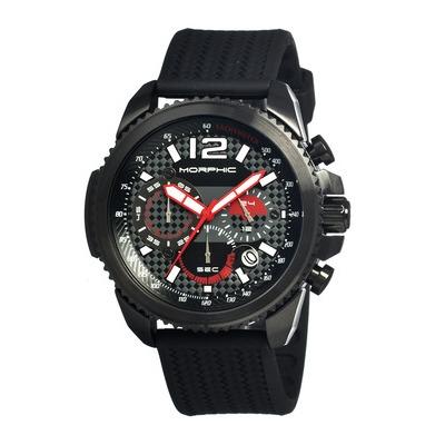 Morphic M28 Series Chronograph Men's Watch w/ Date - Black/Silver MPH2803