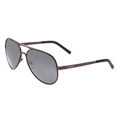 Breed Genesis Polarized Sunglasses - Gunmetal/Purple-Blue BSG046GM