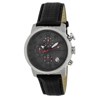 Morphic M38 Series Chronograph Men?s Watch w/ Date - Rose Gold/Black MPH3807