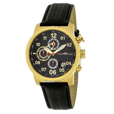 Morphic M38 Series Chronograph Men?s Watch w/ Date - Silver/Charcoal MPH3803