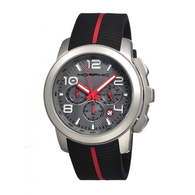 Morphic M22 Series Chronograph Men's Watch w/ Date - Black/White MPH2204