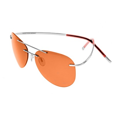 Breed Luna Polarized Sunglasses - Silver/Purple-Blue BSG044SL