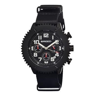 Breed Decker Nylon-Band Chronograph Men's Watch-Brown BRD1503
