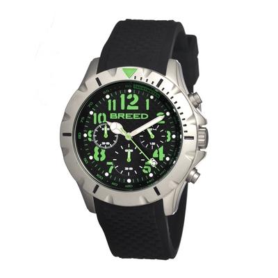 Breed Sergeant Chronograph Men's Watch w/ Date-Black/Red BRD3607