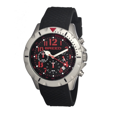 Breed Sergeant Chronograph Men's Watch w/ Date-Black/Green BRD3606