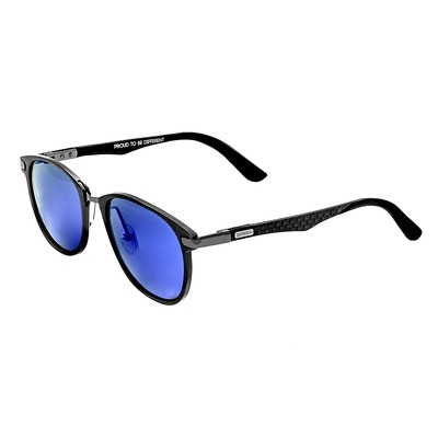 Breed Cetus Aluminium and Carbon Fiber Polarized Sunglasses - Black/Gold BSG027BK