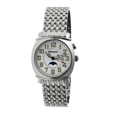 Breed Ray Moon-Phase Men's Bracelet Watch w/ Date-Rose Gold/Silver BRD6505