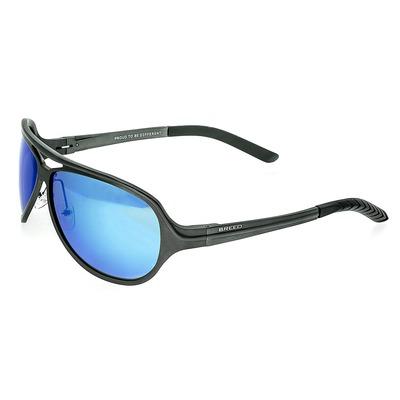 Breed Langston Aluminium Polarized Sunglasses - Black/Blue BSG012BK