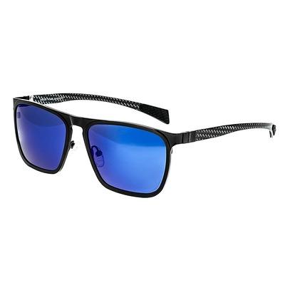 Breed Capricorn Titanium Polarized Sunglasses - Silver/Purple-Blue BSG031SR