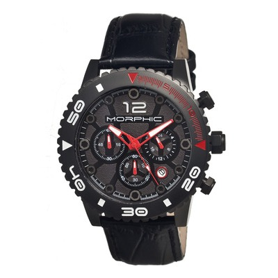 Morphic M33 Series Chronograph Men's Watch w/ Date - Silver/Black MPH3302