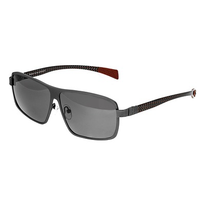 Breed Finlay Titanium Polarized Sunglasses - Brown/Silver BSG033BN