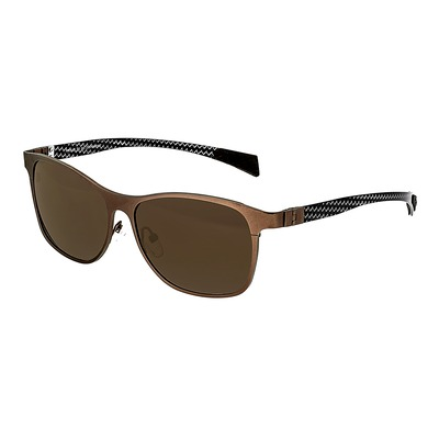 Breed Templar Titanium Polarized Sunglasses - Silver/Black BSG035SR