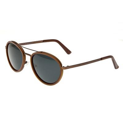 Breed Gemini Titanium Polarized Sunglasses - Gold-Black/Gold-Black BSG038GD