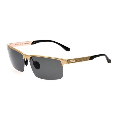Breed Xenon Titanium Polarized Sunglasses - Silver/Blue BSG040SL