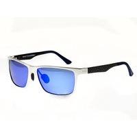 Breed Vulpecula Titanium Polarized Sunglasses - Gunmetal/Blue-Green BSG029GM