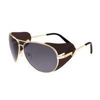 Breed Eclipse Titanium Polarized Sunglasses - Silver/Purple-Blue BSG048GY
