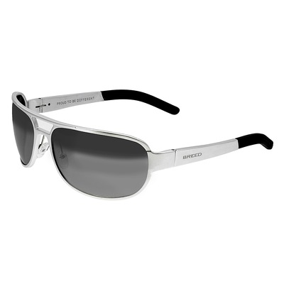 Breed Xander Aluminium Polarized Sunglasses - Silver/Silver BSG014SR