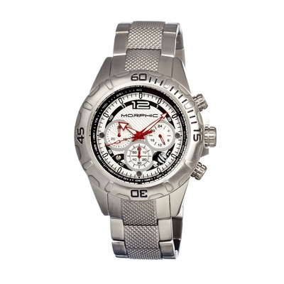 Morphic M17 Series Chronograph Men's Watch w/ Date - Silver MPH1701