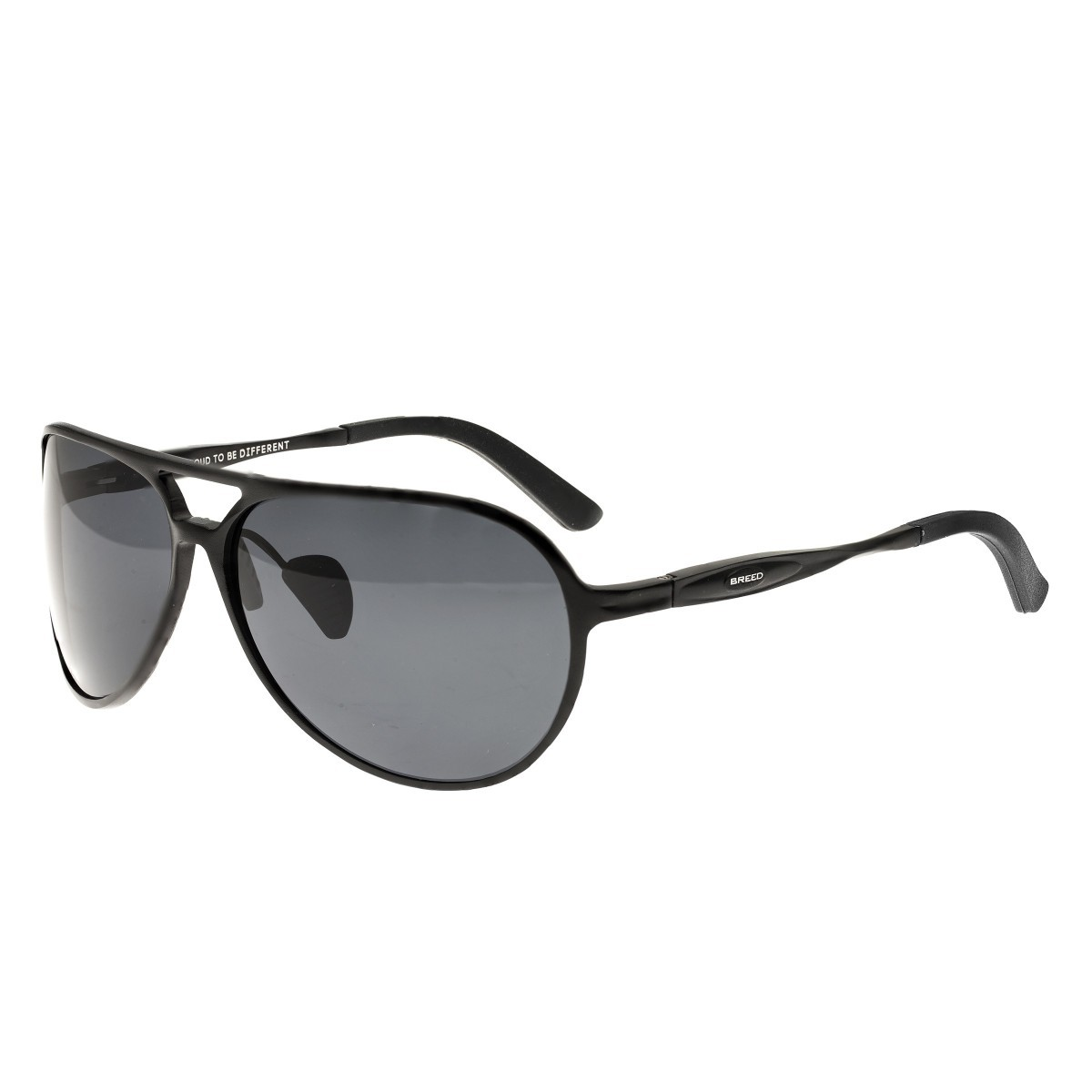 Breed Earhart Aluminium Polarized Sunglasses - Black/Black BSG011BK
