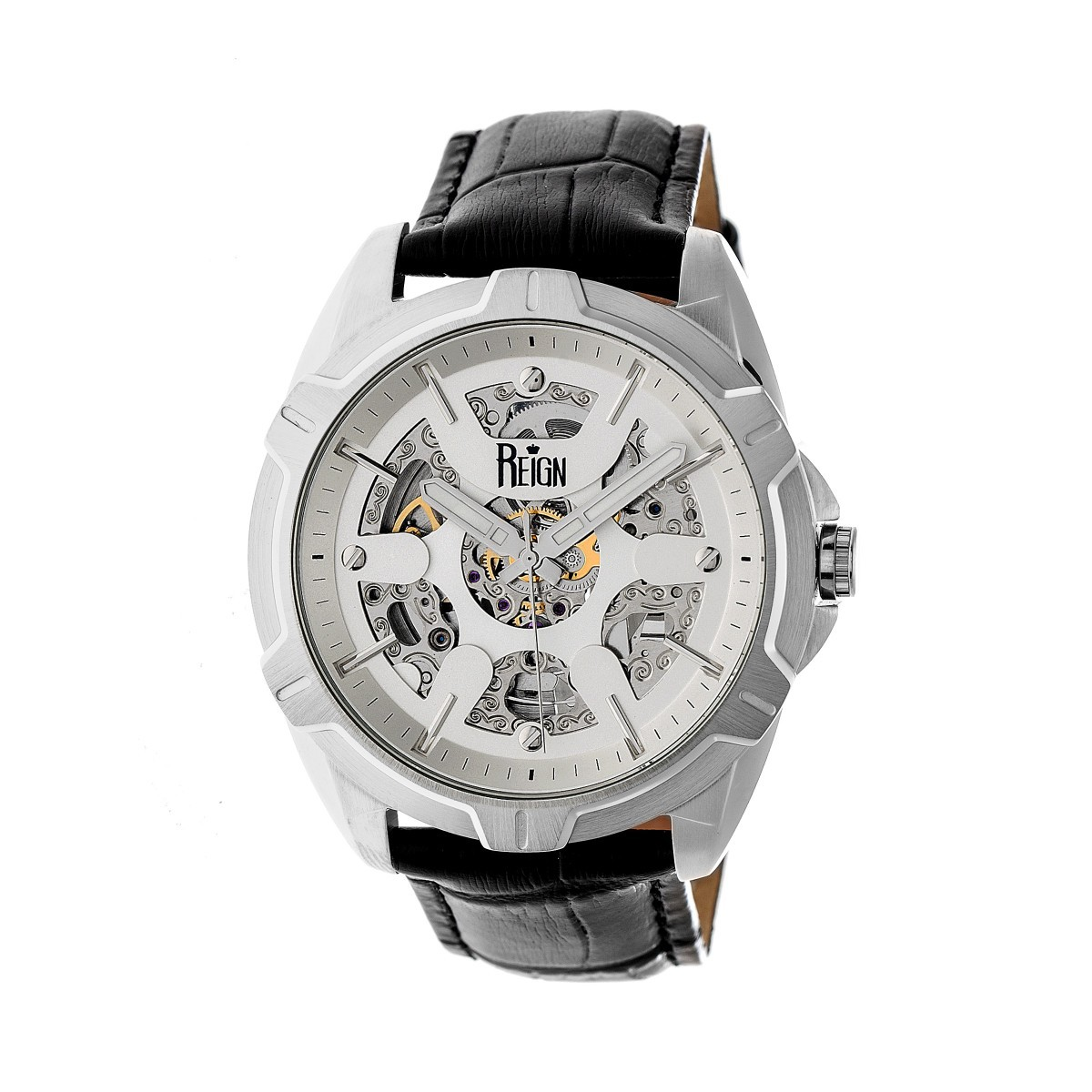 reign carlisle men 39 s automatic skeleton dial watch rn4200 ebay