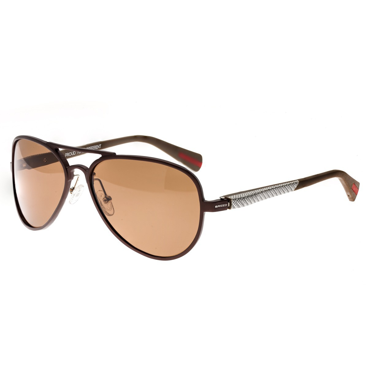 Breed Dorado Titanium Polarized Sunglasses - Brown/Brown BSG030BN