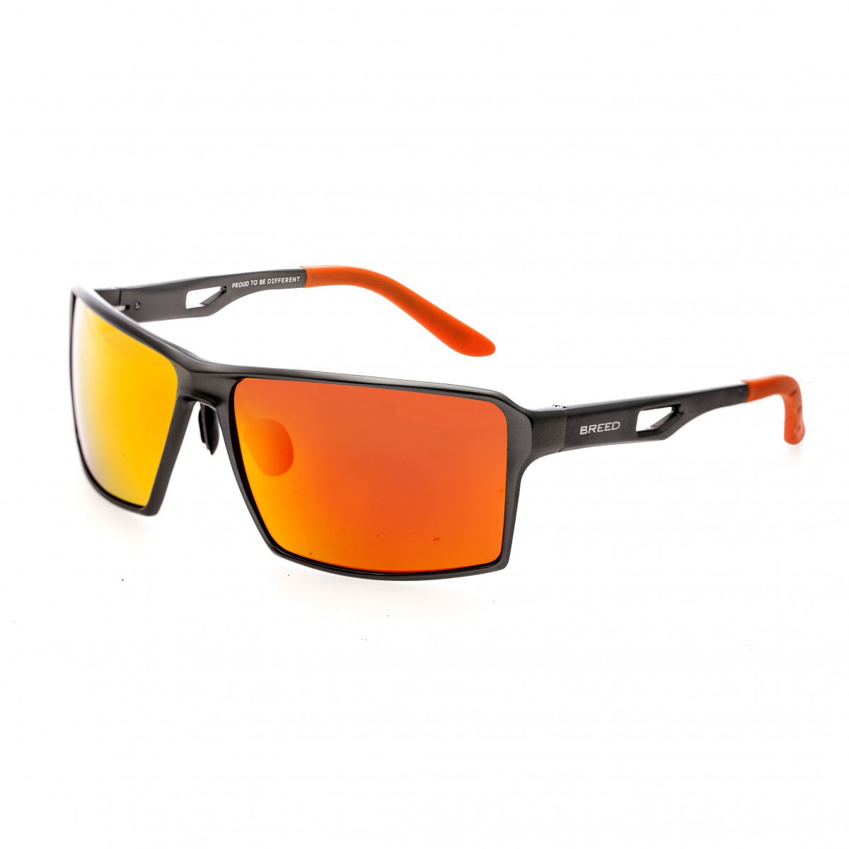 Breed Centaurus Aluminium Polarized Sunglasses - Gunmetal/Red-Yellow BSG021DR