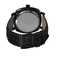 Breed Mozart Wood-Dial Leather-Band Men's Watch-Black BRD4203