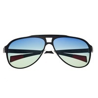 Breed Apollo Titanium and Carbon Fiber Polarized Sunglasses - Black/Blue BSG006BK
