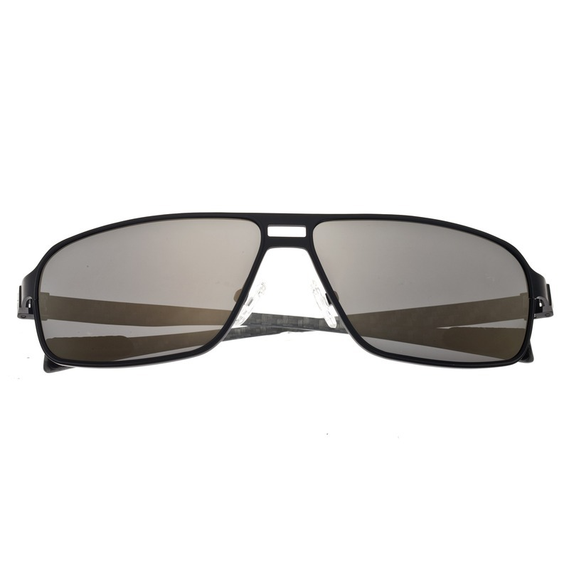 Breed Meridian Titanium and Carbon Fiber Polarized Sunglasses - Black/Gold BSG003BK