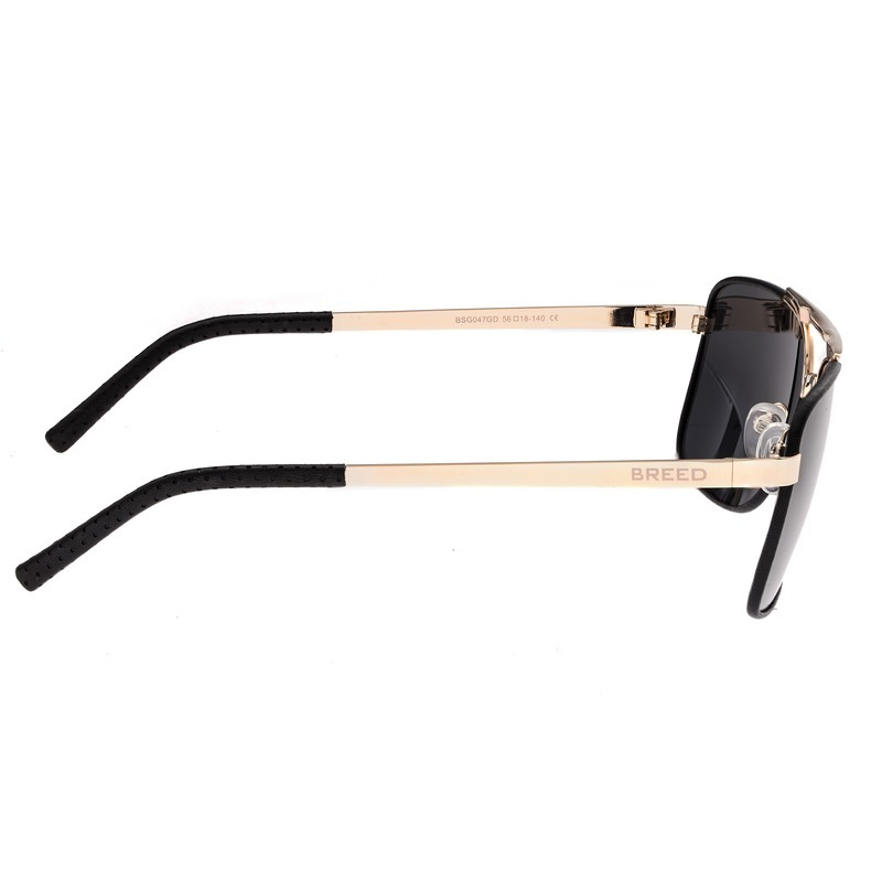 Breed Draco Polarized Sunglasses - Gold/Black BSG047GD