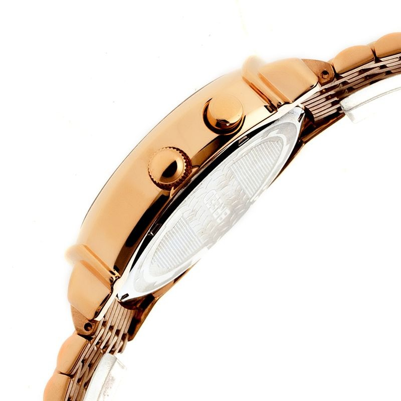 Breed Ray Moon-Phase Men's Bracelet Watch w/ Date-Rose Gold/Silver BRD6505