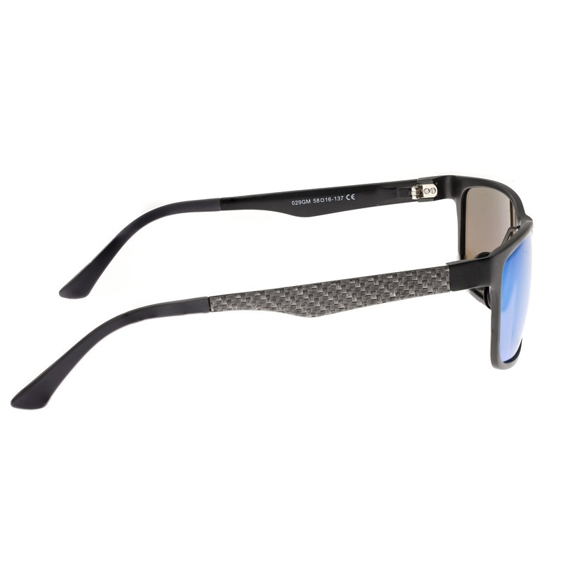 Breed Vulpecula Titanium Polarized Sunglasses - Gunmetal/Blue-Green BSG029GM