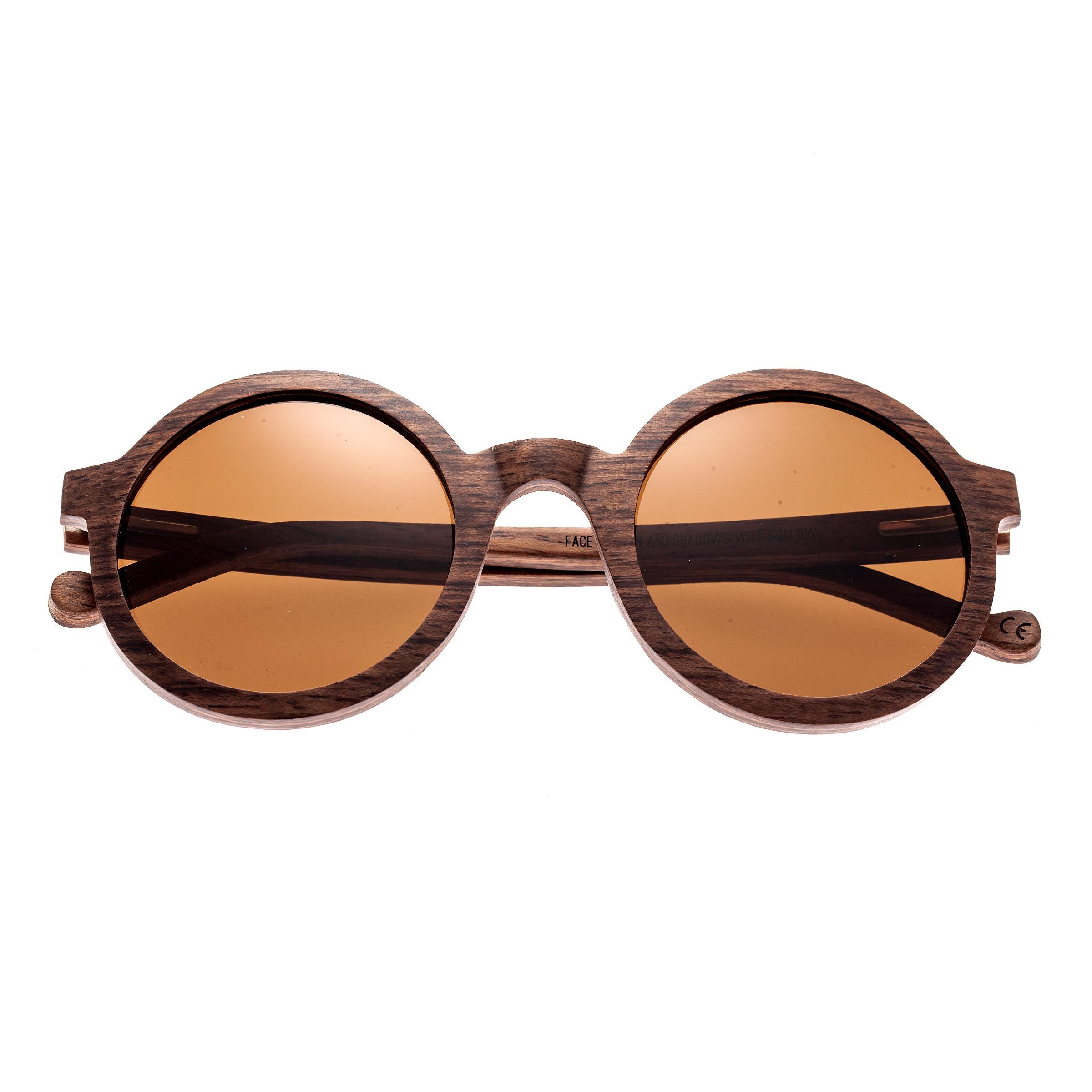 5c7c00e16c17 Earth-Wood-Canary-Polarized-Unisex-Round-Wood-Sunglasses thumbnail
